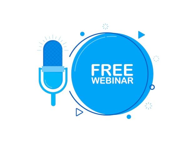 Webinaire gratuit en ligne, avec microphone enregistré.