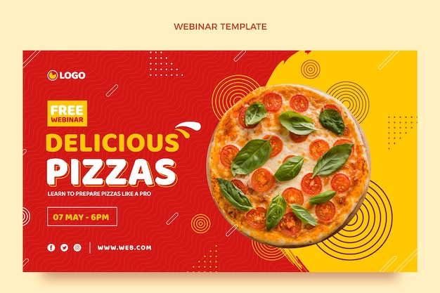 Webinaire sur la pizza design plat