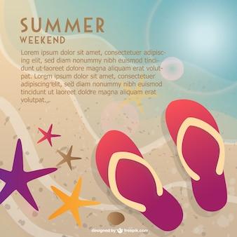 Week-end d'été à la plage vecteur