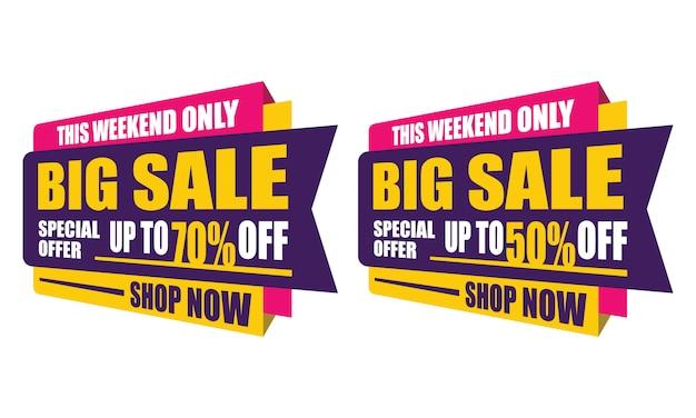 Ce week-end offre spéciale grande vente autocollant