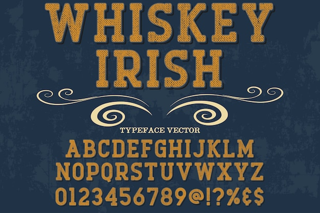 Whisky de conception de polices rétro typographie