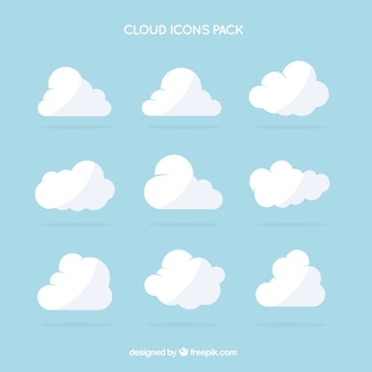 White cloud icônes pack