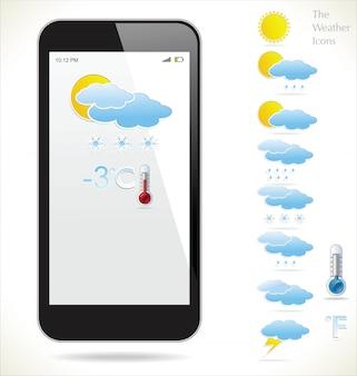 Widget météo vectorielle