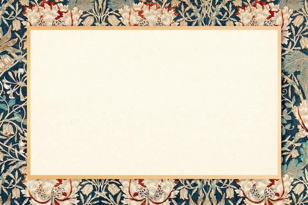 William morris motif cadre vecteur floral vintage