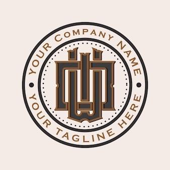 Wo monogramme logo vintage