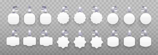 Wobbler rond blanc blanc 3d