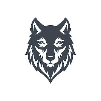 Wolf logo vecteur de stock