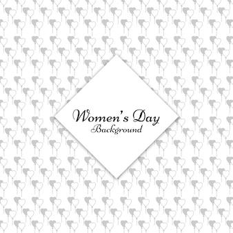 Womens day coeur motif de fond