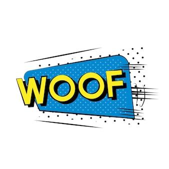 Woof comic style
