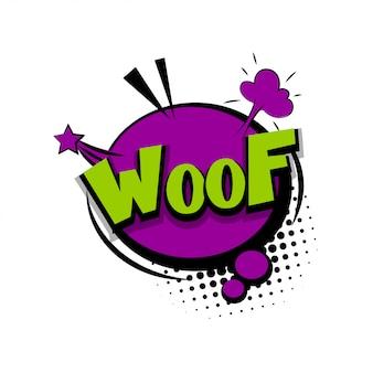Woof texte comique pop art