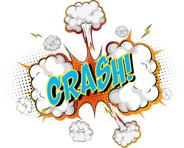 Word crash sur nuage de bande dessinée
