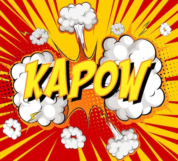 Word kapow sur nuage de bande dessinée