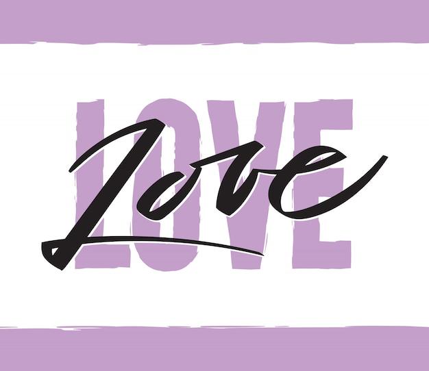 Word love écrit