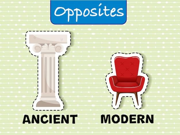 Word opposé ancien et moderne