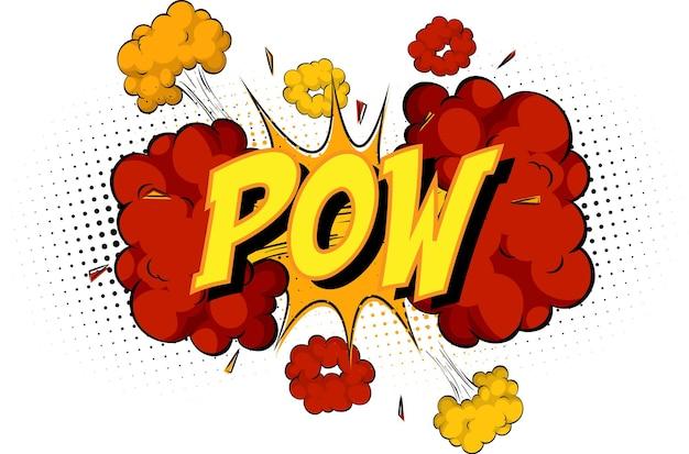 Word pow sur nuage de bande dessinée