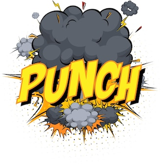 Word punch sur nuage de bande dessinée