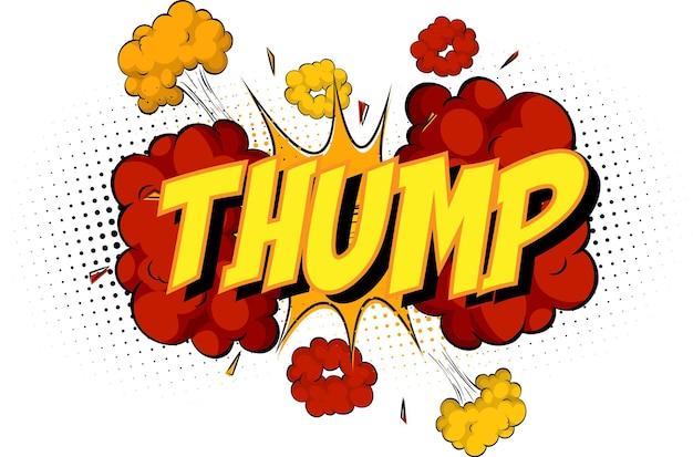 Word thump sur nuage de bande dessinée