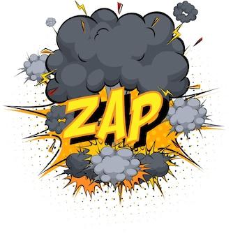 Word zap sur nuage de bande dessinée