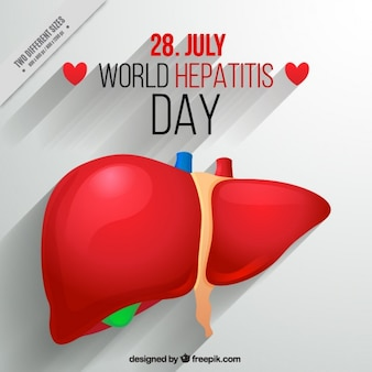 World hepatitis day background
