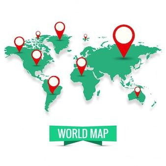 World Map Background Vecteur gratuit