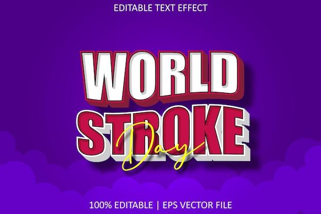 World stoke day avec effet de texte modifiable de style moderne