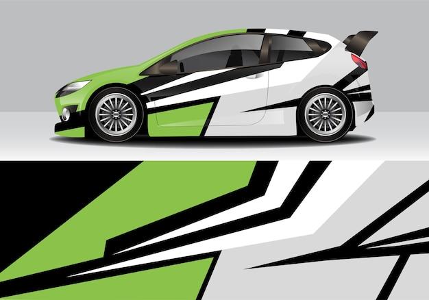 Wrap de voiture abstraite sportive moderne, autocollant automatique
