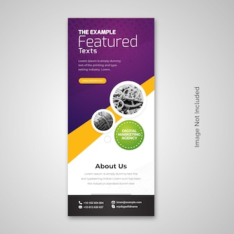 X-banner rollup accent violet