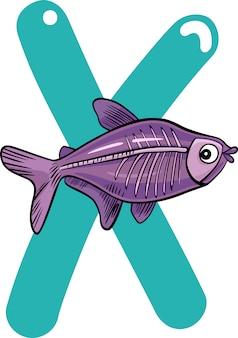 X pour le poisson aux rayons x