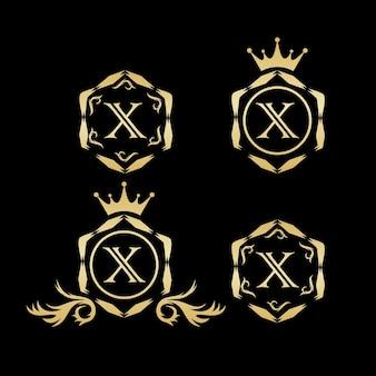 X vecteur de logo de luxe