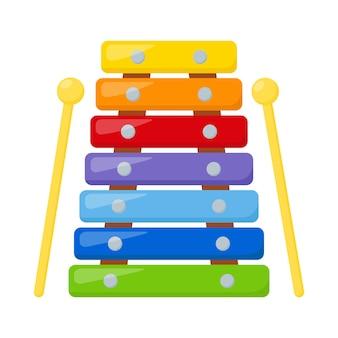 Xylophone jouet enfant, illustration vectorielle