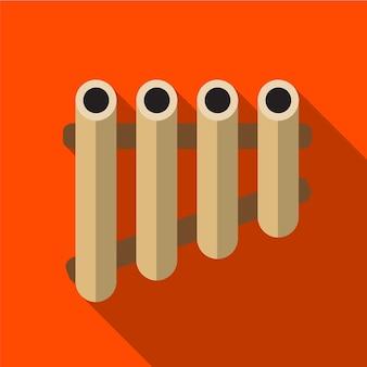Xylophone plat icône illustration isolé vecteur signe symbole
