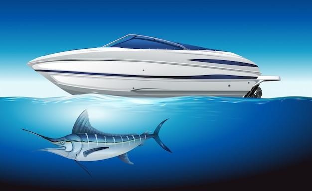 Yacht à voile en mer