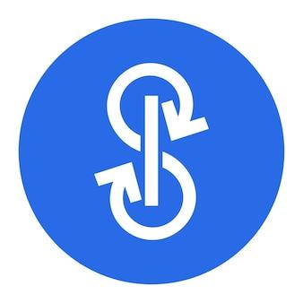 Yearn.finance yfi jeton symbole crypto-monnaie logo, icône de pièce isolé sur fond blanc. illustration vectorielle.