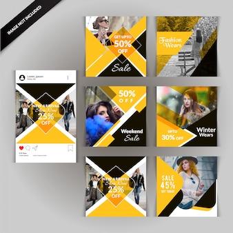 Yellow fashion: publication sur les médias sociaux pour le marketing numérique