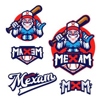 Yetti baseball mascotte personnage logo