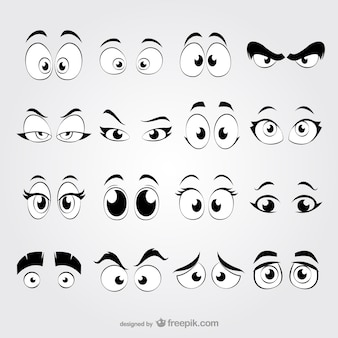 Yeux cartoon