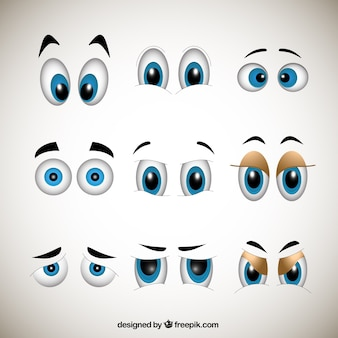 Yeux cartoons