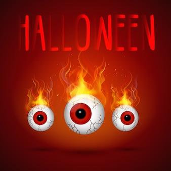 Yeux de fond d'halloween