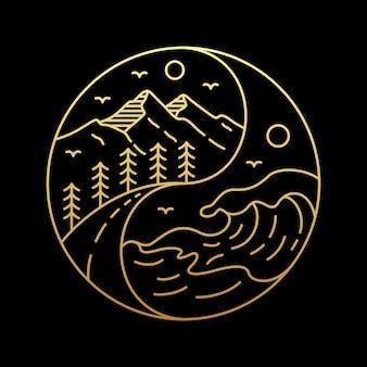 Yin yang de la nature
