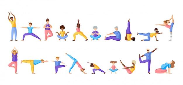Yoga différentes personnes