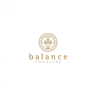 Yoga logo silhouette yoga, bien-être