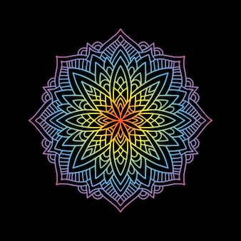 Yoga mandala dégradé rond