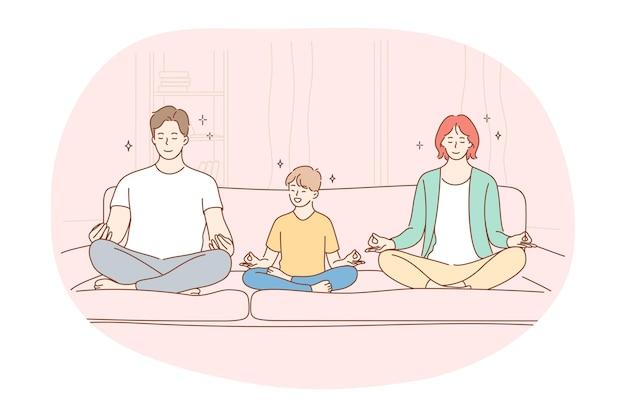 Yoga méditation concept de mode de vie sport actif sain