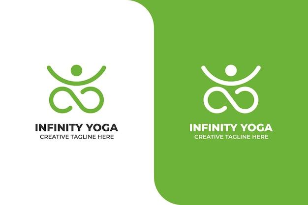 Yoga méditation monoline logo
