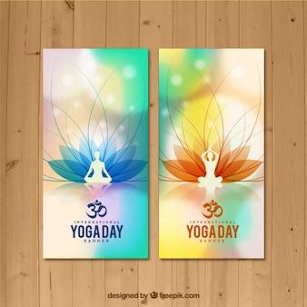 Yoga pose bannières