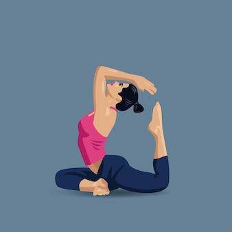 Yoga posture fleur