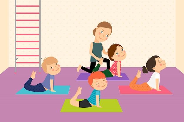 Yoga pour enfants avec instructeur