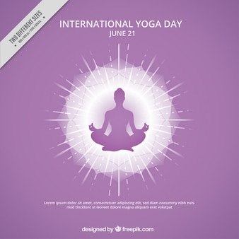 Yoga silhouette fond