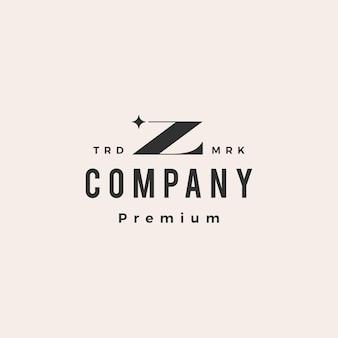 Z lettre étoile hipster logo vintage