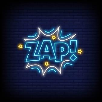 Zap neon style de texte